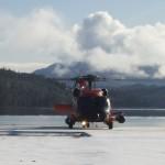 Coast Guard chopper landing in February 2009.