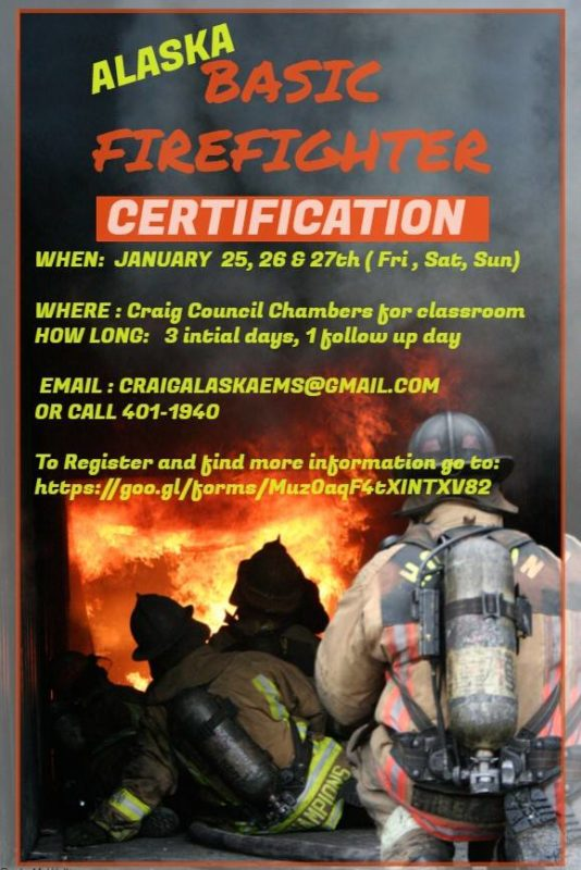 BASIC FIREFIGHTER CERTIFICATION AVAILABLE