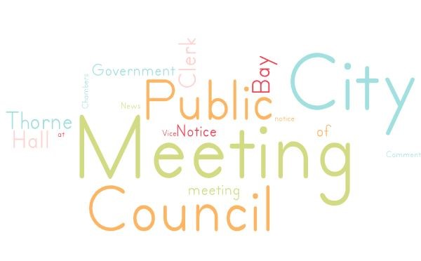 Council Meeting Tuesday, January 5th @ 6:30