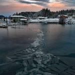 Morning ice at TB Marina